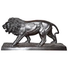 Lion Sculpture in Bronze Black Finish