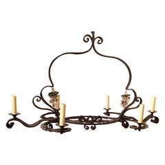 Horizontal Wrought Iron Chandelier