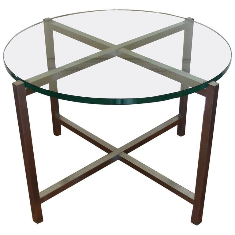 1930's Jacques Adnet Nickel and Glass Coffee/Side/End/Centre Table