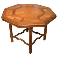 Oak Victorian Period Octagonal Parquetry Table by Howard & Sons of London