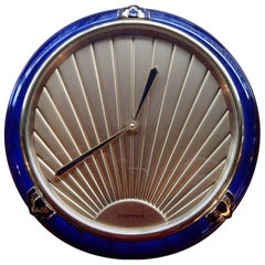 1980 This Cartier Art Deco Blue Enamel Table Clock