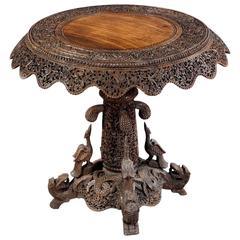 Burmese Hardwood Center Table