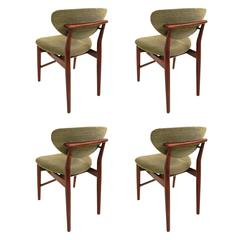 Finn Juhl, Rare Set of Four Original Dining Chairs, Model 108