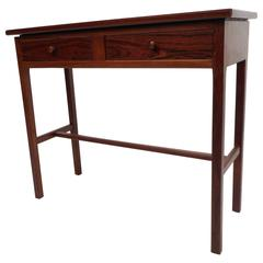 Mid-Century Modern Small Two-Door Rosewood Console Table