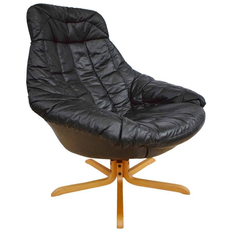 Mid Century Retro Danish H W Klein For Bramin Leather
