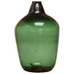 19th Century French Green Glass Demijohn
