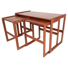 Set of Mid-Century Modern Danish Teak Nesting Tables