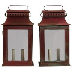 Pair of Copper Wall Lantern