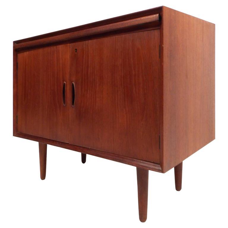Mid-Century Modern Danish Teak Two-Door Cabinet