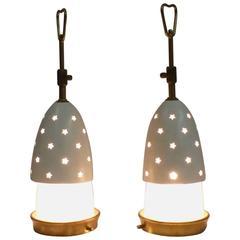 """Angelo Lelli Pair of Lamps for Arredoluce, Italy, 1950 """"Stélline"""""""