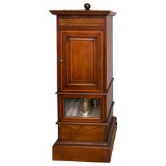 1920s Mahogany Dry Bar, Complete with Humidor and Game Compendium