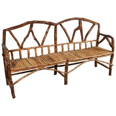 Rustic Wooden Bench from Morocco