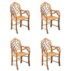"""Set of Four """"Coursi"""" Chair from Morocco"""