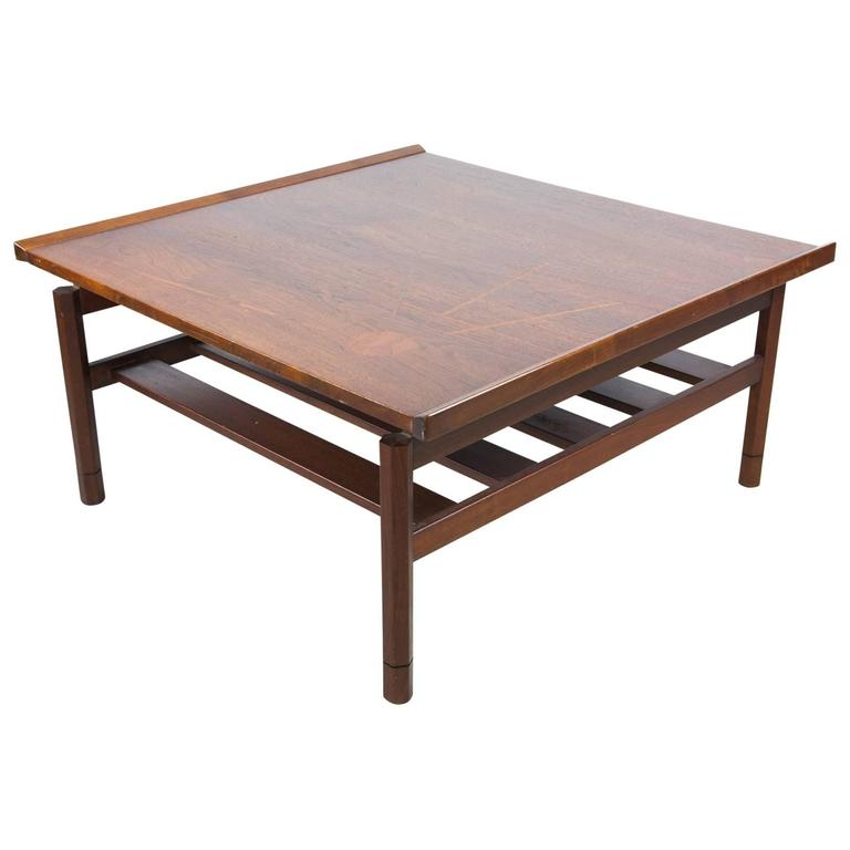 Floating Two-Tier Walnut Coffee Table