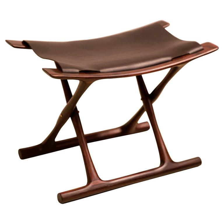 Egyptian Folding Stool By Ole Wanscher In Indian Rosewood