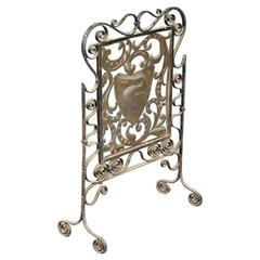 An Arts and Crafts Iron & Copper Fire Screen Attributed to John Pearson