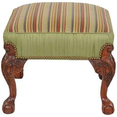 Georgian Style Ball and Claw Footstool