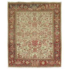 Square Vintage Persian Heriz Carpet