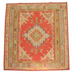Vintage Oushak Kilim
