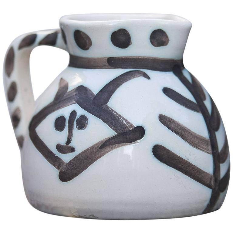 Pablo Picasso Ceramic Pitcher Madoura