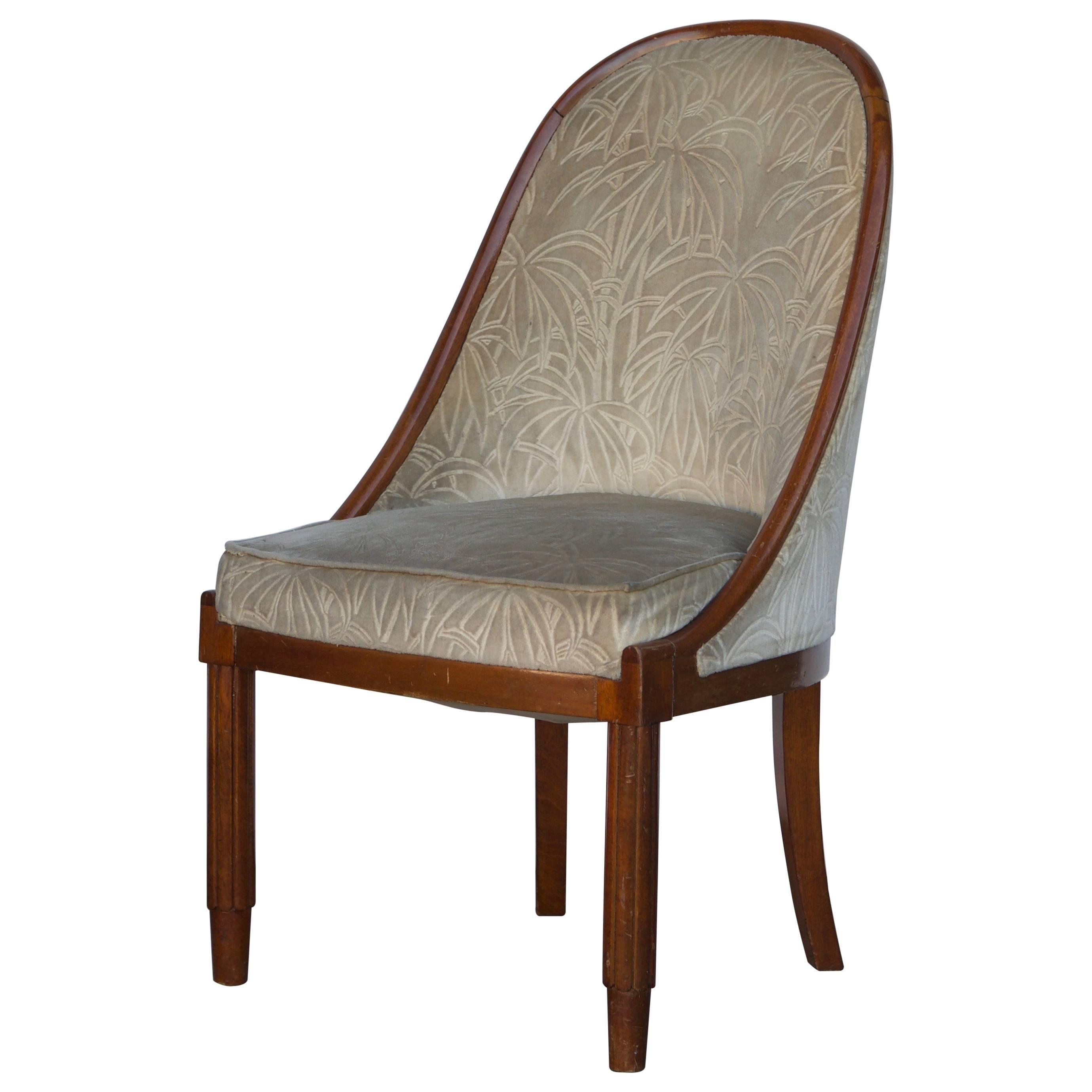 Chic French Art Deco Bergère in the style of Émile-Jacques Ruhlmann