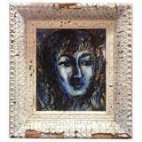 """""""Sea Maiden"""" Enamel Plaque by Barbara DeLong"""