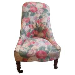 Vintage Slipper Chair in Vintage Floral
