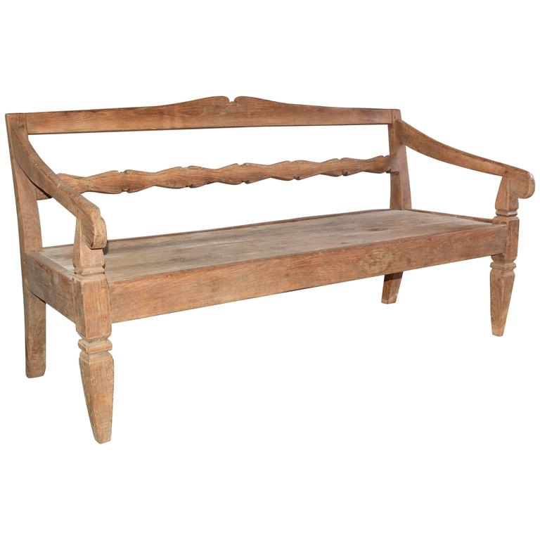 Antique Asian Teak Daybed Bench