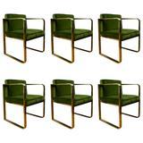 Original Set of Six Armchairs