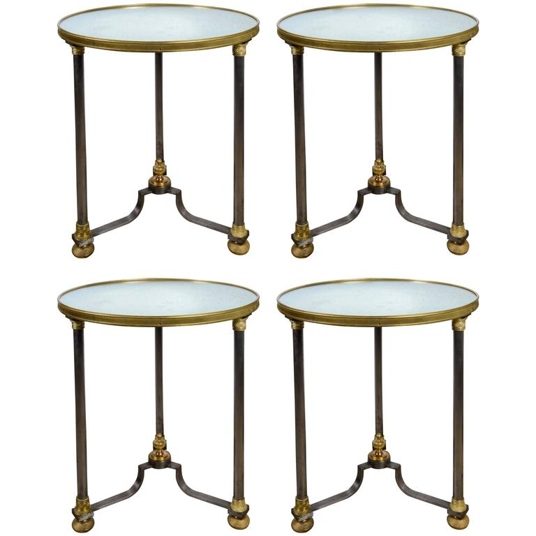 Set of Four Pedestals Attributed to Jansen For Sale