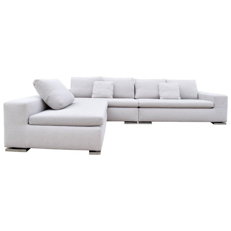 Minotti Moore Three Piece Sectional Sofa By Rodolfo Dordoni For