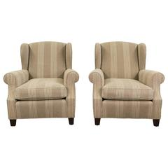 Pair of 1930s French Wingback Chairs