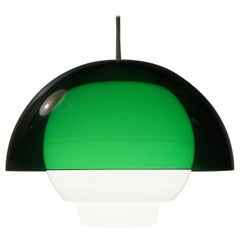 'Ergo' Green Plexiglass Pendant Lamp by Bent Karlby for A. Schroder Kemi, 1970s