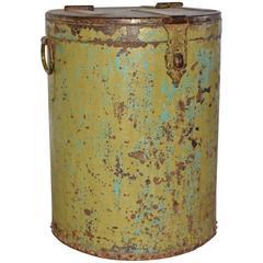 Large Vintage Metal Barrel