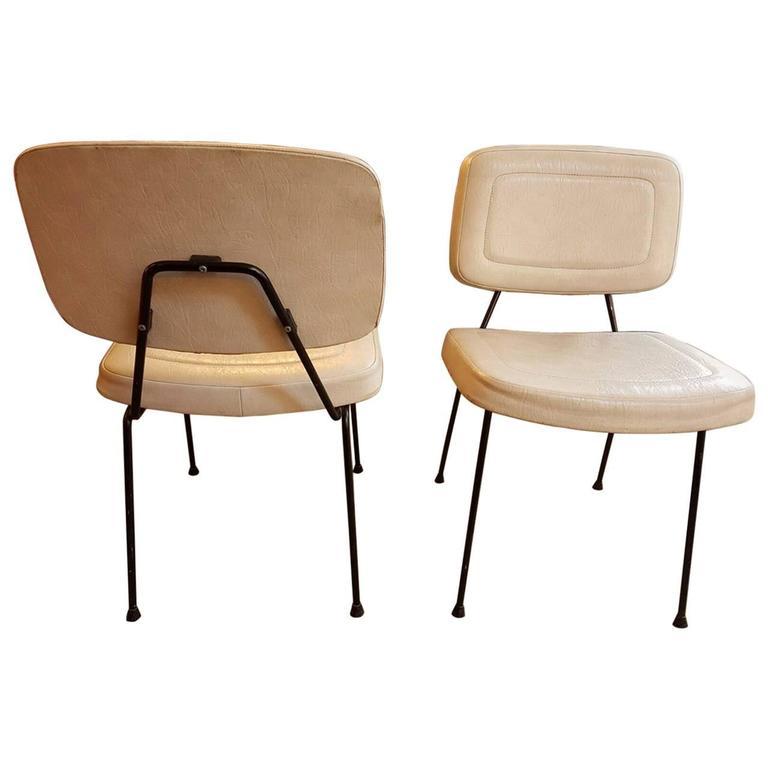 Pair of Chairs, CM196 Model, by Pierre Paulin