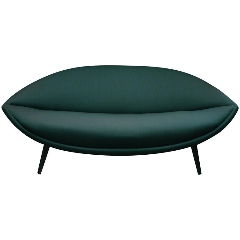 Very Rare and Exquisis Sculptural Sofa by Folke Jansson, circa 1950