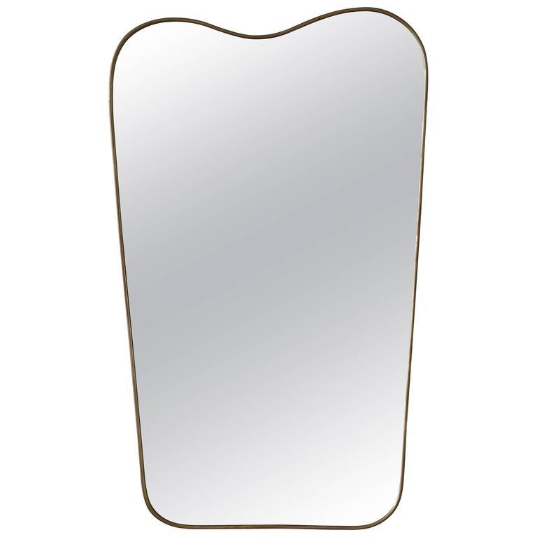 Italian 1950s Brass Mirror 1