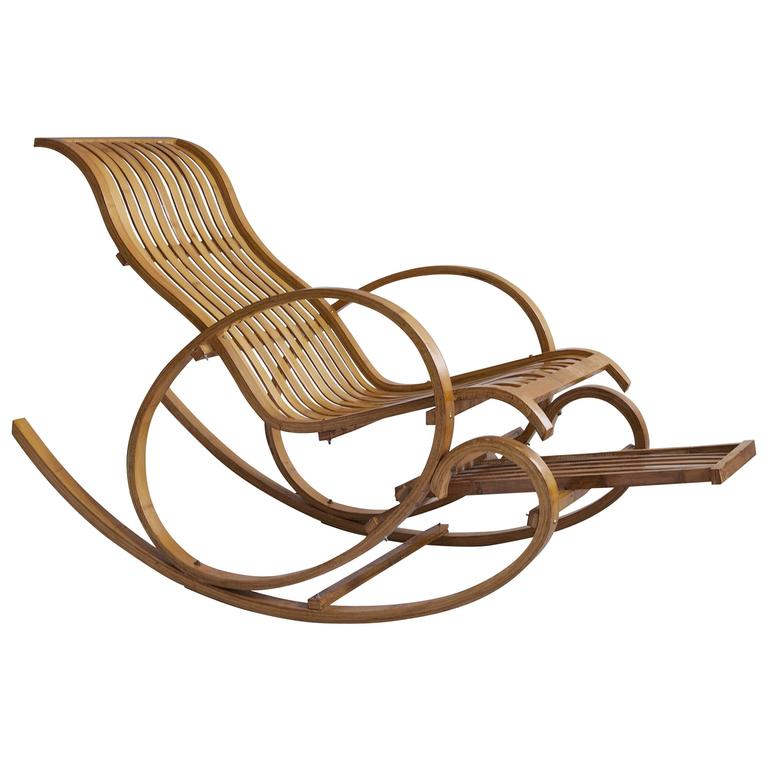 French 1950s Rocking Chair For Sale at 1stdibs