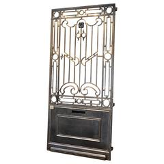 1920s French Wrought Iron Pedestrian Door Gate  sc 1 st  1stDibs & Art Deco Doors and Gates - 37 For Sale at 1stdibs