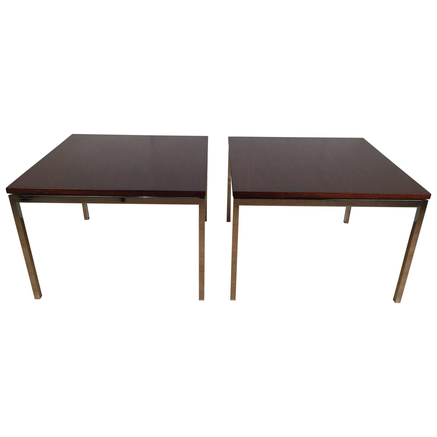 Florence Knoll Coffee Table Rosewood T Angle Iron 1956 For Sale