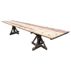 Rustic French Walnut Dining Table
