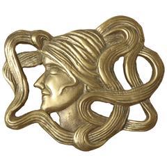 Vintage Art Deco Brass Trivet