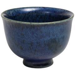 Louis Delachenal French Art Deco Blue Stoneware Coupe