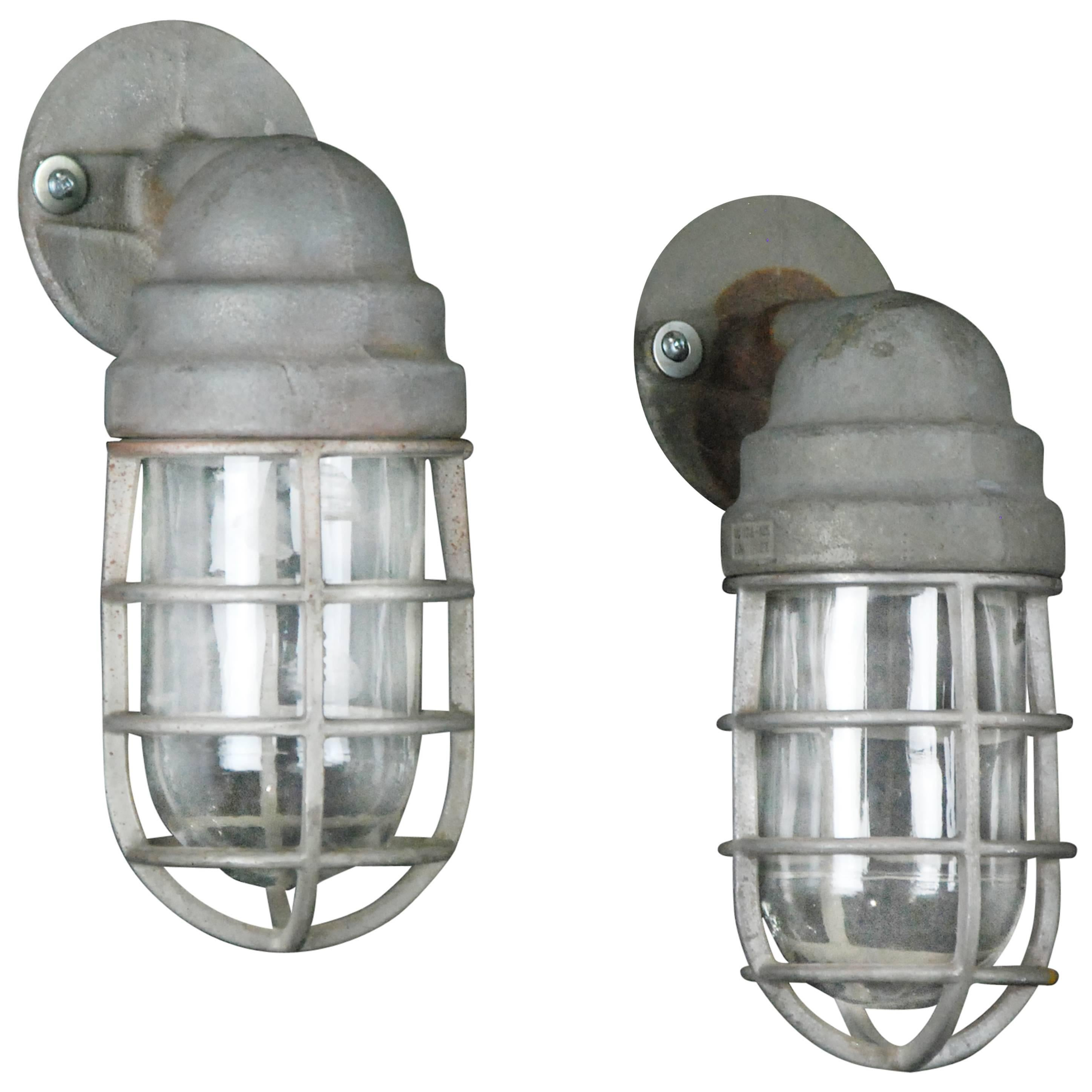 1940 pair of crouse hinds industrial wall sconce lighting for sale 1940 pair of crouse hinds industrial wall sconce lighting for sale at 1stdibs arubaitofo Choice Image