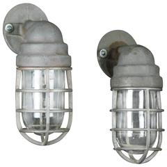 1940 Crouse-Hinds Industrial Wall Sconce Lights