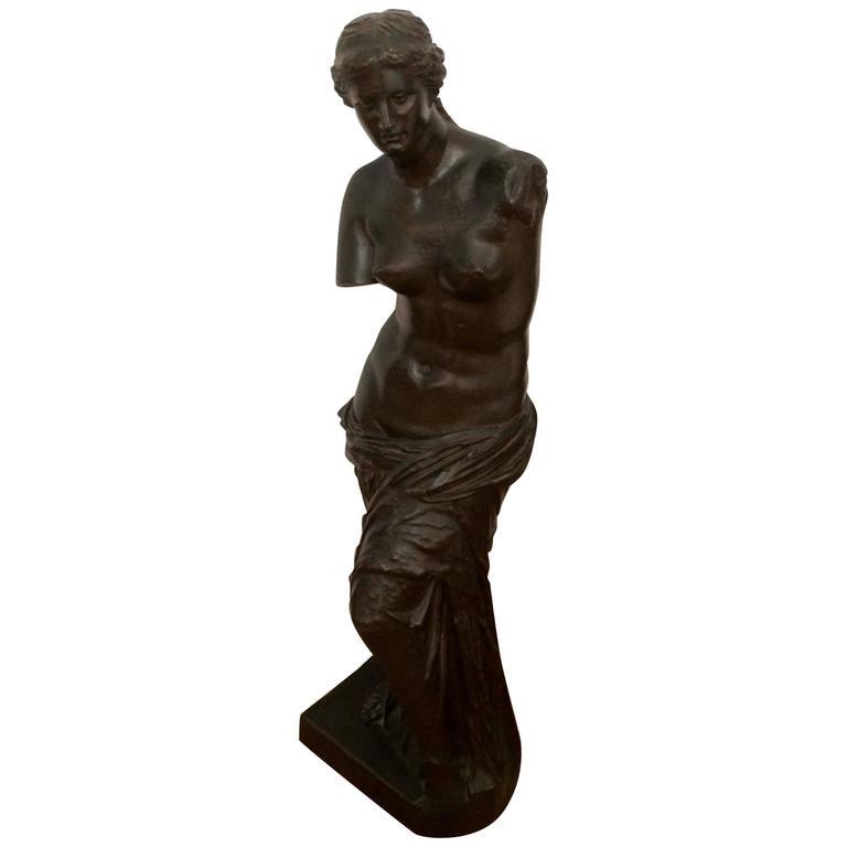 Romantic Bronze Sculpture of a Goddess