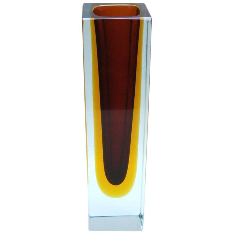 alessandro mandruzzato triple sommerso murano glass vase for sale at 1stdibs. Black Bedroom Furniture Sets. Home Design Ideas