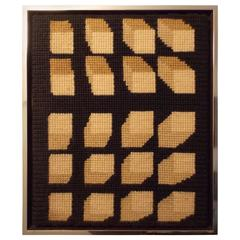 Modernist Fiber Art Wall Hanging