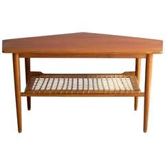 Danish Mid-Century Asymmetric Teak Coffee Table