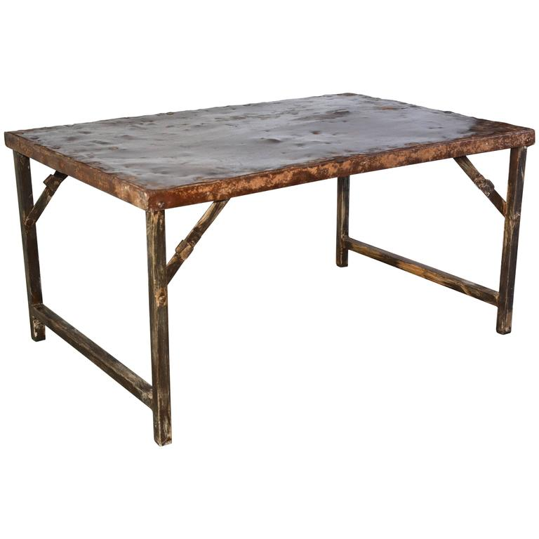 Antique Folding Iron Coffee Table For Sale At 1stdibs